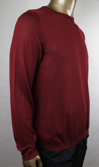 Gucci Wine Red XL W Men's Cashmere W/Gg Emblem Pullover Sweater 369065 6215 Groomsman Gift Image 1