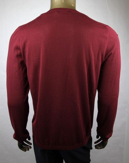 Gucci Wine Red XL W Men's Cashmere W/Gg Emblem Pullover Sweater 369065 6215 Groomsman Gift Image 3