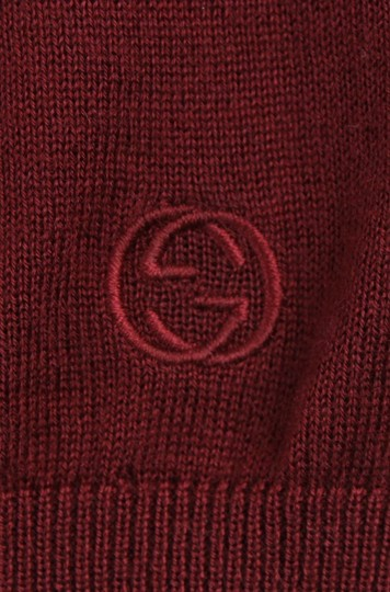 Gucci Wine Red XL W Men's Cashmere W/Gg Emblem Pullover Sweater 369065 6215 Groomsman Gift Image 7