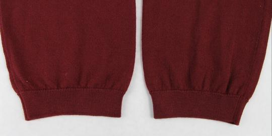Gucci Wine Red XL W Men's Cashmere W/Gg Emblem Pullover Sweater 369065 6215 Groomsman Gift Image 8