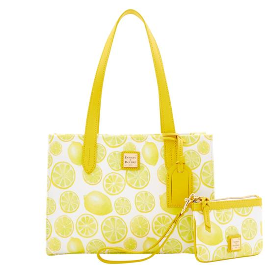 Preload https://img-static.tradesy.com/item/24390027/dooney-and-bourke-limone-small-shopper-med-wristlet-white-coated-canvas-tote-0-0-540-540.jpg
