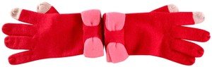 Kate Spade w/ Pink Colorblock Bow Gloves