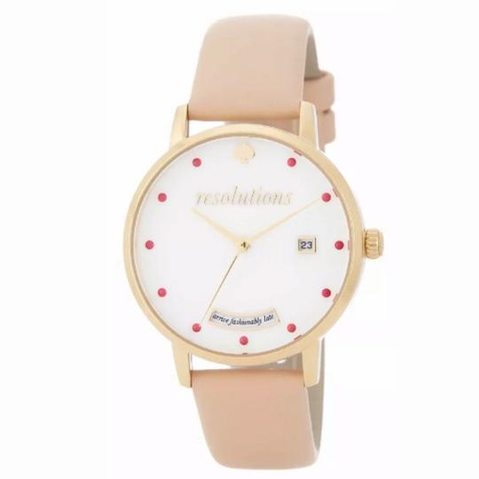 Kate Spade Kate Spade Women's Metro Quartz Vachetta Watch Quartz 'resolutions', Image 1
