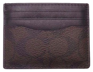 Coach BRAND NEW COACH (F58110) SIGNATURE BROWN ID CARD CASE HOLDER WALLET