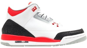 Nike Air Jordan Air Retro 3 white, red, grey, charcoal, Athletic
