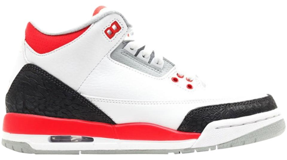 finest selection 14312 203c9 Nike White Red Grey Charcoal Air Jordan 3 Retro Gs Sneakers Size US 6  Regular (M, B) 55% off retail