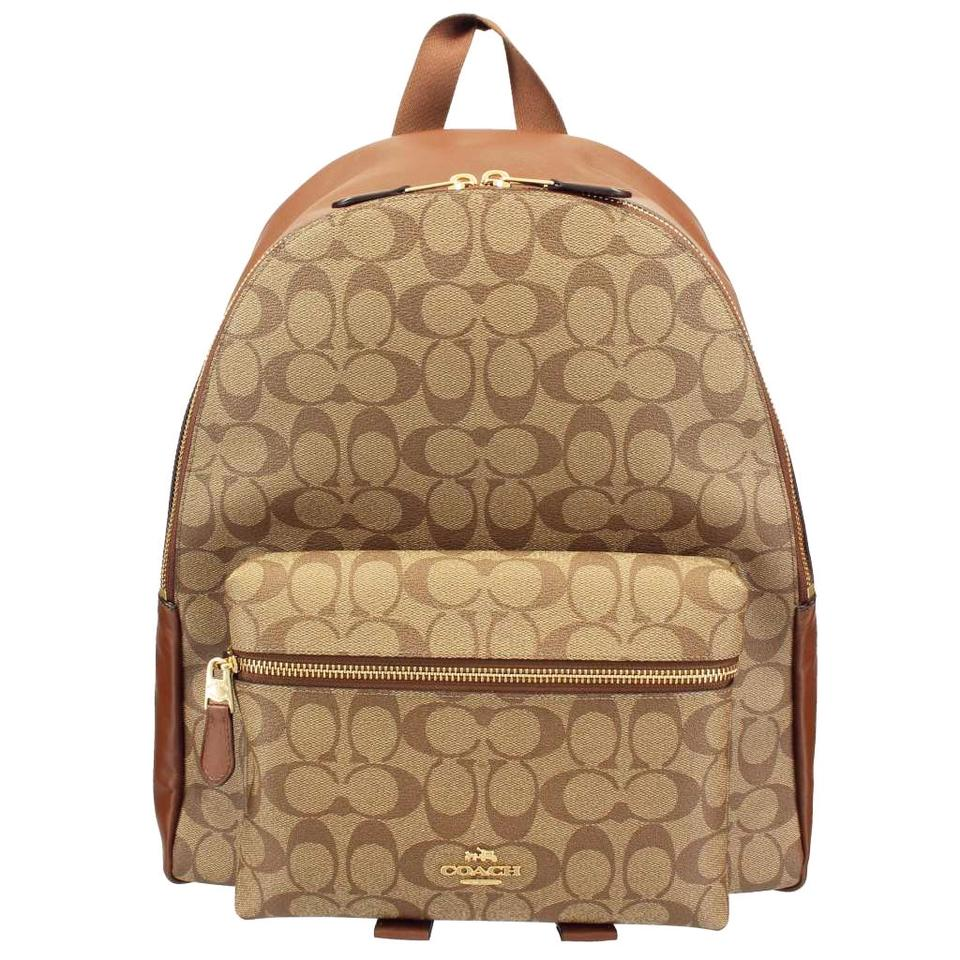 Coach Saddle New Women s (F58314) Signature Khaki Charlie Brown ... f1fe59b46959d