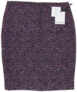 Calvin Klein Classic Pencil Lined Rocker Textured Skirt Black
