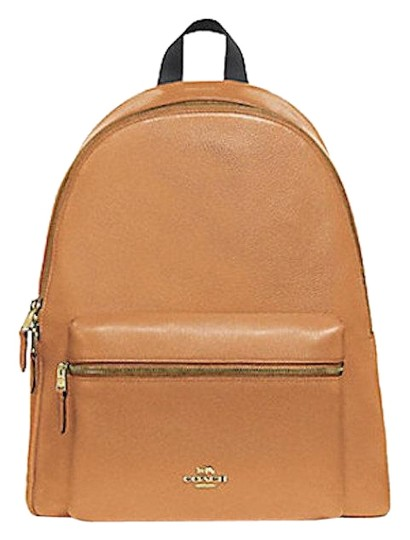 Preload https://img-static.tradesy.com/item/24390338/coach-saddle-new-women-s-f29004-charlie-pebble-brown-leather-backpack-0-1-540-540.jpg