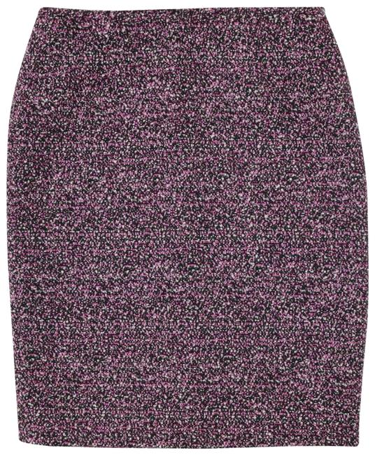 Calvin Klein Classic Pencil Lined Rocker Textured Skirt Black Image 3