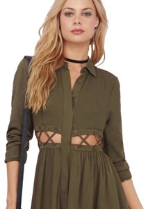 Tobi short dress Green Skater Outfit Olive on Tradesy