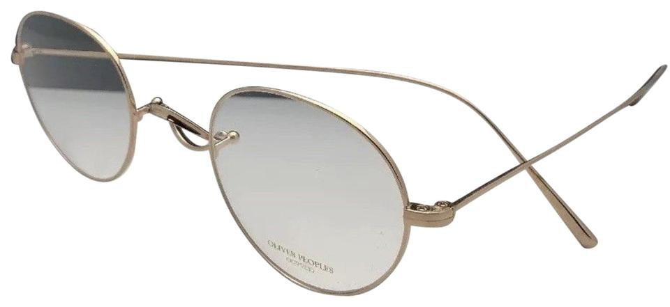Oliver Peoples New Whitt Ov1241t 5292 45-24 White Gold Titanium Frame  Sunglasses