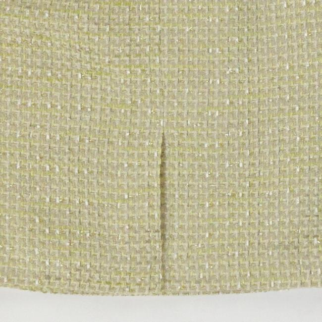 Calvin Klein Classic Pencil Rocker Textured Metallic Skirt Gold Image 3