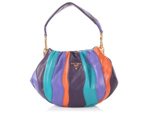 Prada Orange Purple Striped Pr.p1026.05 Reduced Price Cross Body Bag