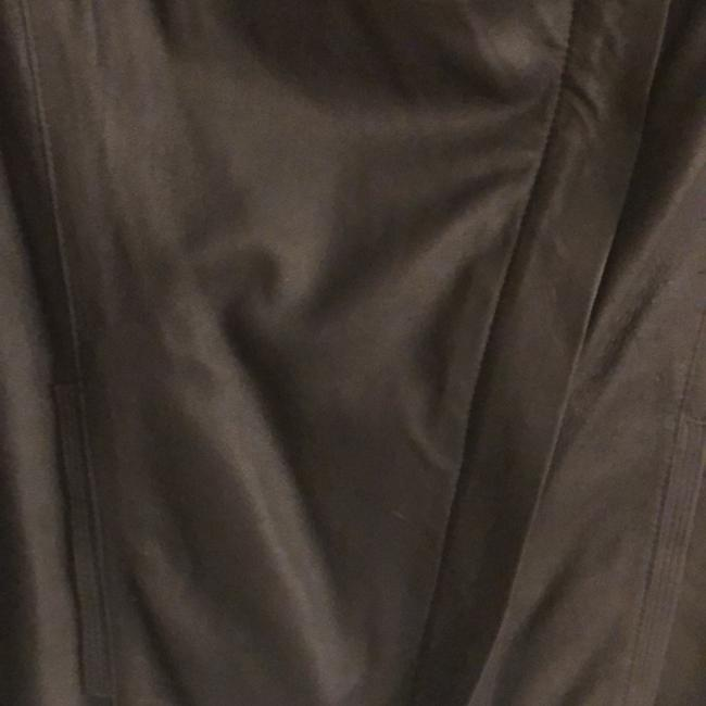 Elie Tahari Navy Blue Leather Jacket Image 4