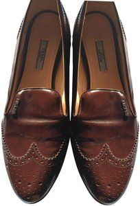 Prada Patent Leather Made In Italy Brown Flats