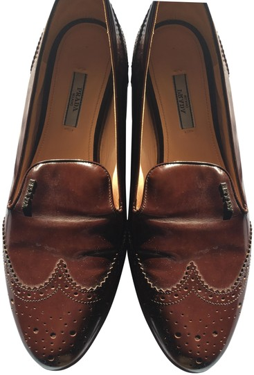 Prada Patent Leather Made In Italy Brown Flats Image 0