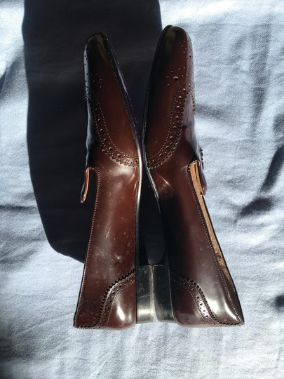 Prada Patent Leather Made In Italy Brown Flats Image 11