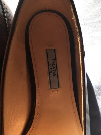 Prada Patent Leather Made In Italy Brown Flats Image 2
