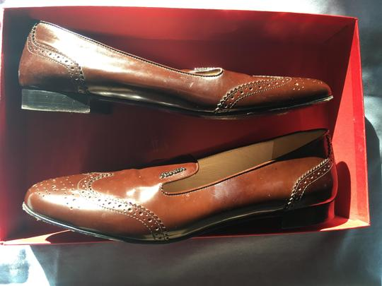 Prada Patent Leather Made In Italy Brown Flats Image 3