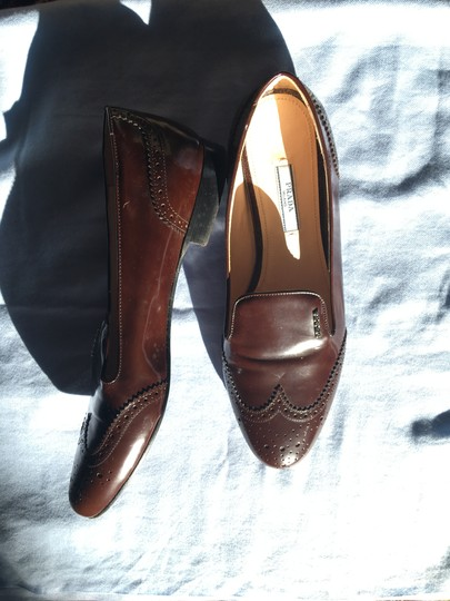 Prada Patent Leather Made In Italy Brown Flats Image 6