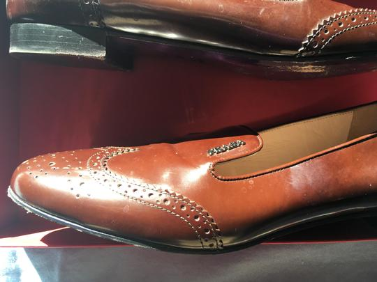 Prada Patent Leather Made In Italy Brown Flats Image 7