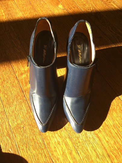 Valentino Avante Leather Blue Boots Image 10