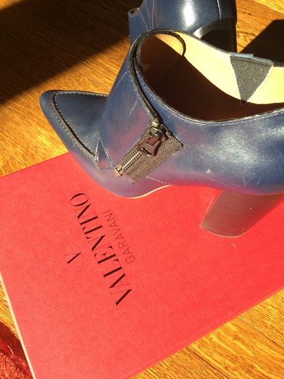 Valentino Avante Leather Blue Boots Image 11