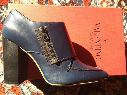Valentino Avante Leather Blue Boots Image 3