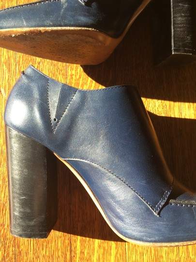 Valentino Avante Leather Blue Boots Image 5