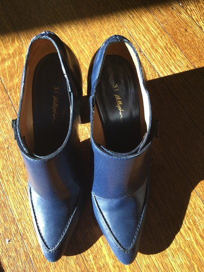 Valentino Avante Leather Blue Boots Image 6