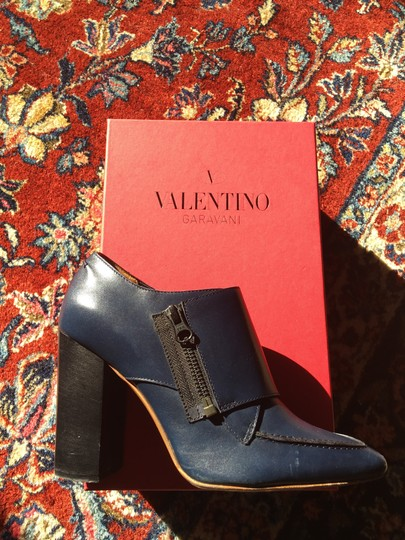 Valentino Avante Leather Blue Boots Image 7