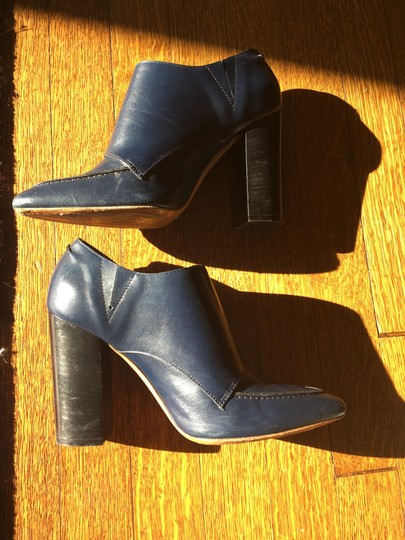 Valentino Avante Leather Blue Boots Image 8