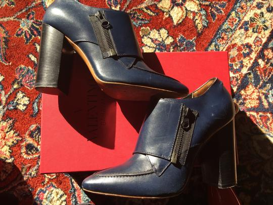 Valentino Avante Leather Blue Boots Image 9