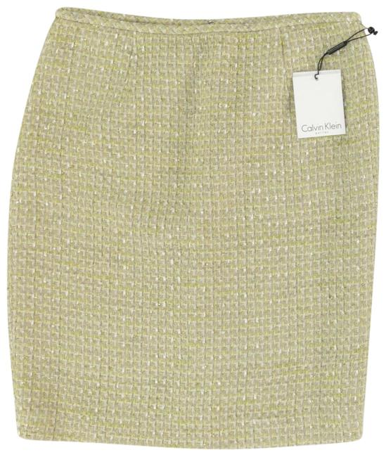 Preload https://img-static.tradesy.com/item/24390447/calvin-klein-gold-metallic-accented-wheat-and-cream-chic-and-textured-fabric-pencil-skirt-size-10-m-0-1-650-650.jpg