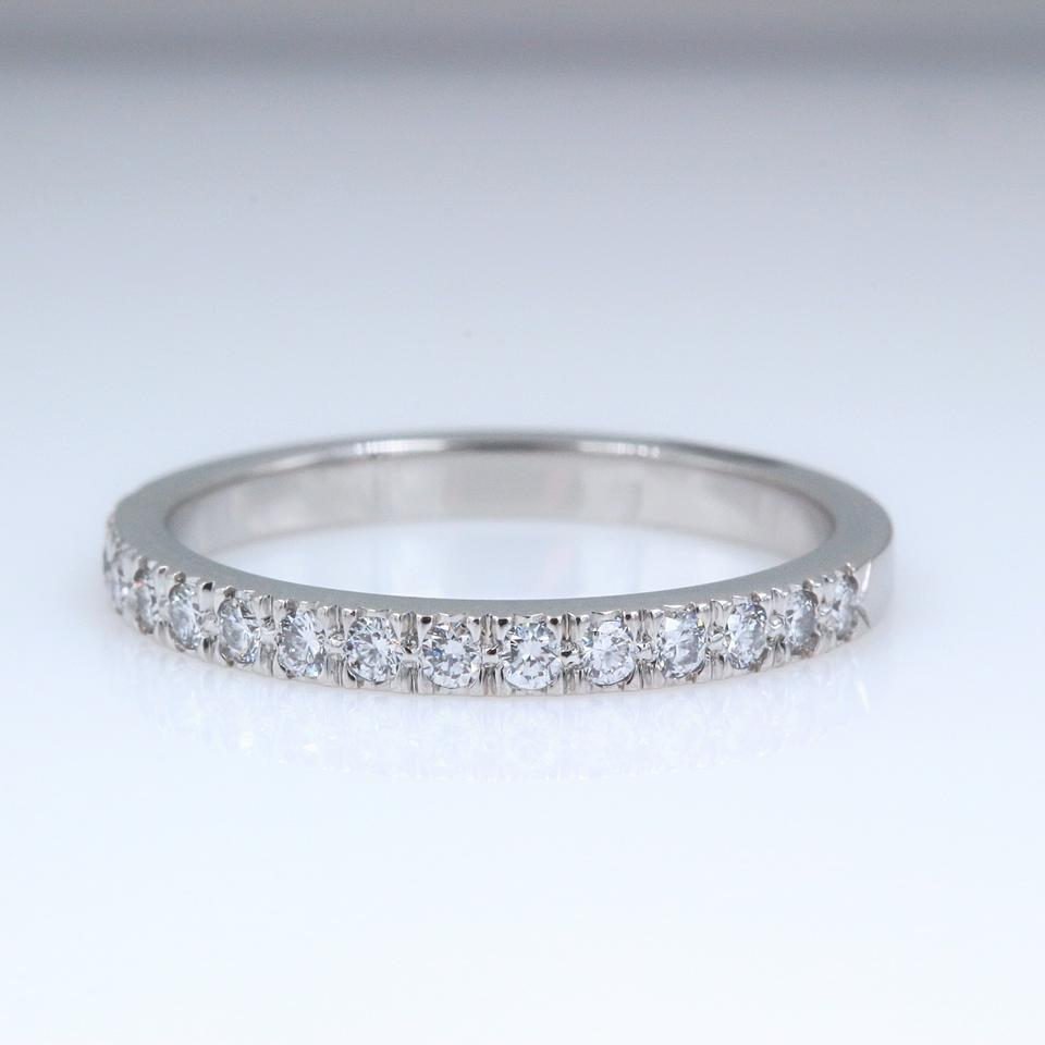 604b6d119 Tiffany & Co. F G Novo Platinum Diamond Ring 2 Mm 0.23 Tcw Half Circle  Women's ...