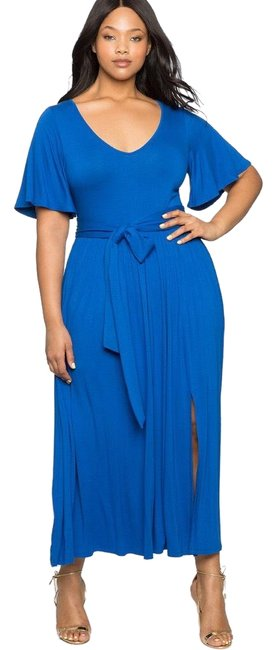 Preload https://img-static.tradesy.com/item/24390539/blue-flutter-sleeve-long-casual-maxi-dress-size-16-xl-plus-0x-0-1-650-650.jpg