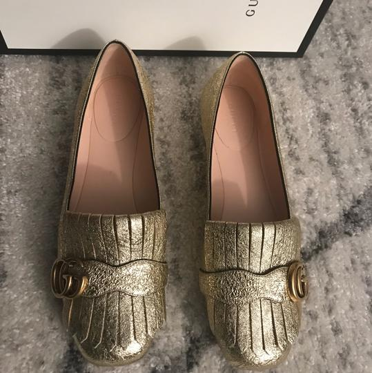 Gucci Mule Holiday Logo Cocktail Gold Flats Image 2