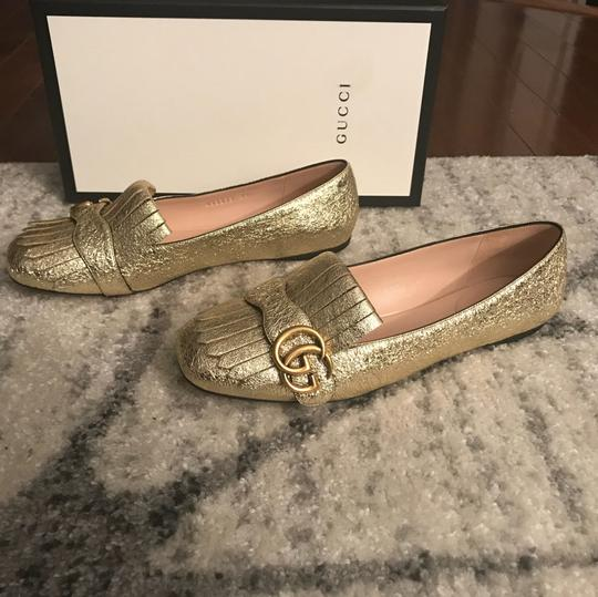Gucci Mule Holiday Logo Cocktail Gold Flats Image 4
