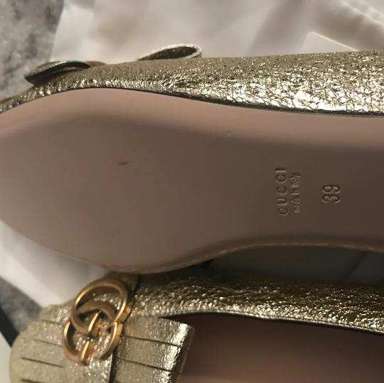 Gucci Mule Holiday Logo Cocktail Gold Flats Image 5
