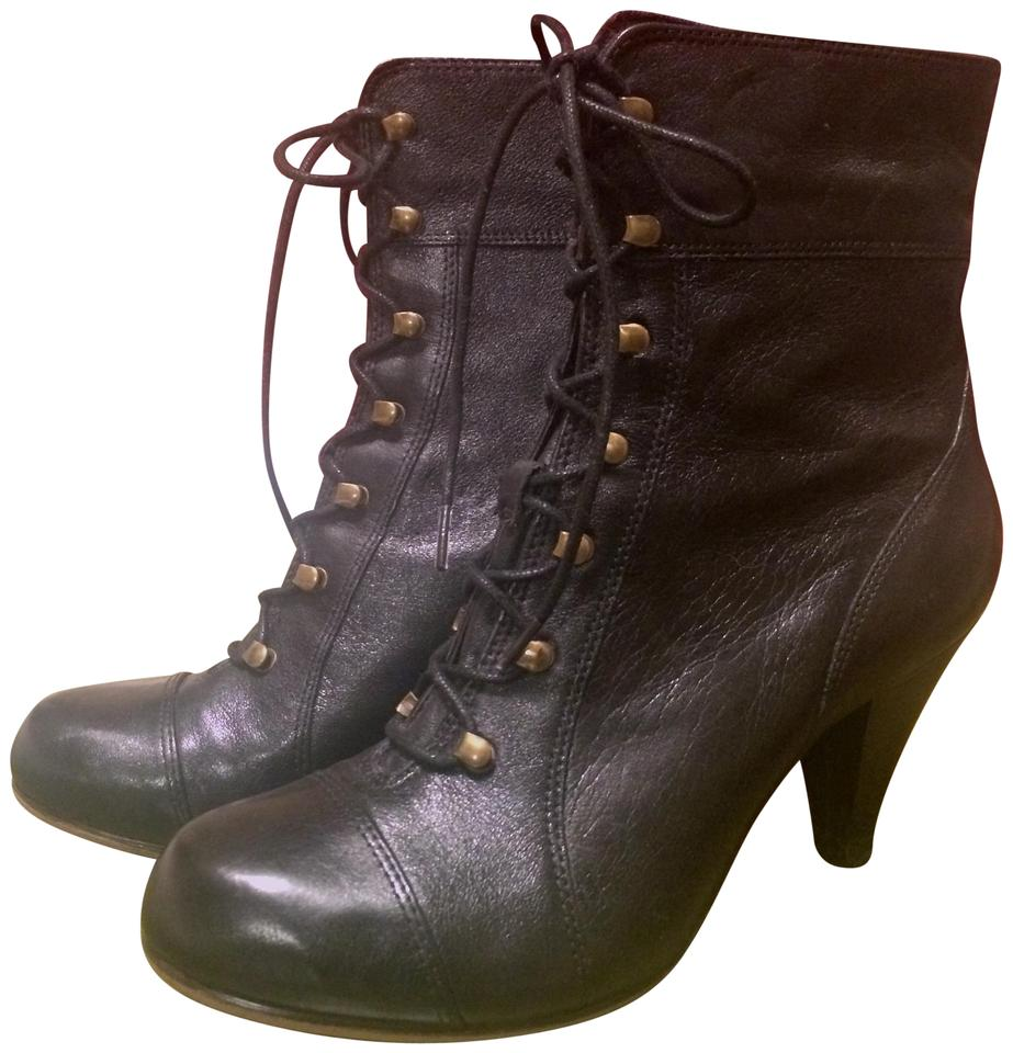 82ad4c7445 Clarks Black Never Worn Leather Boots/Booties Size US 6 Regular (M ...