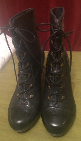 Clarks Leather Classic Winter Gold Hardware Black Boots Image 1