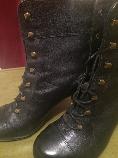 Clarks Leather Classic Winter Gold Hardware Black Boots Image 2