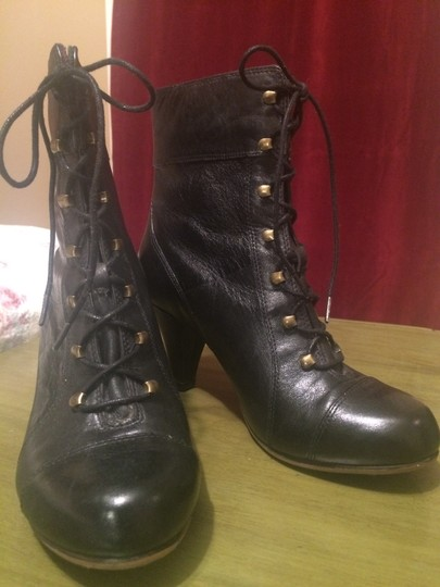 Clarks Leather Classic Winter Gold Hardware Black Boots Image 3