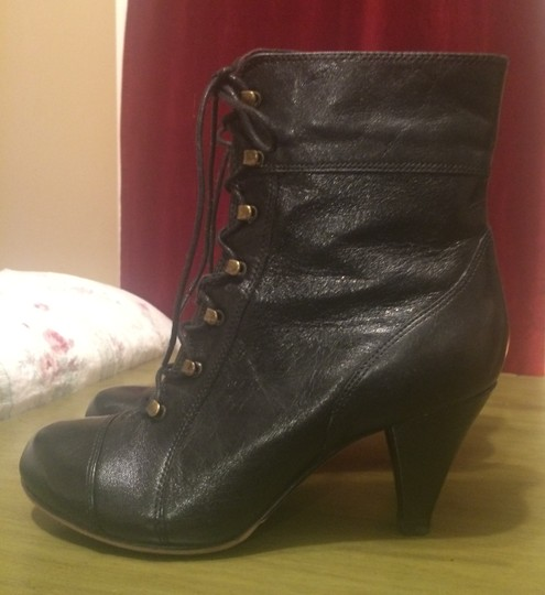 Clarks Leather Classic Winter Gold Hardware Black Boots Image 5