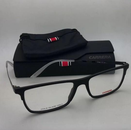 Carrera New CARRERA Eyeglasses CA 6664 GTN 55-17 145 Matte Black & Frost White Image 3