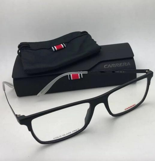 Carrera New CARRERA Eyeglasses CA 6664 GTN 55-17 145 Matte Black & Frost White Image 4