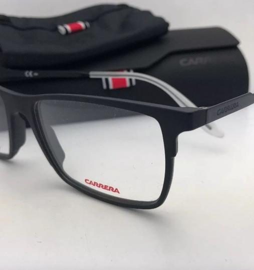 Carrera New CARRERA Eyeglasses CA 6664 GTN 55-17 145 Matte Black & Frost White Image 5