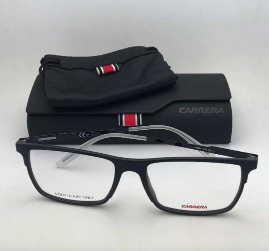 Carrera New CARRERA Eyeglasses CA 6664 GTN 55-17 145 Matte Black & Frost White Image 6