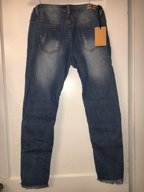 Machine Nouvelle Mode Size 9 Distressed Sequin Skinny Jeans-Distressed Image 2